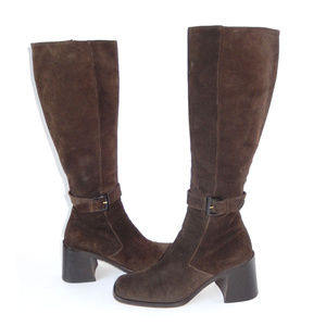 Via Spiga Brown Suede Leather Tall Boots